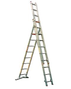 CASTOR & LADDER 3 PART COMBINATION LADDER