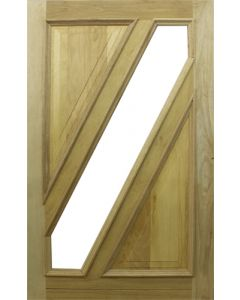 HEMLOCK GLASS PIVOT 1200 DOOR