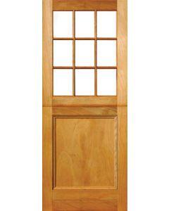 9 PANEL GLASS 1 PANEL ENGINEERED HARDWOOD STABLE DOOR 813X2032