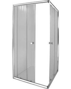 Aqua Lux 205534 Chrome Corner Entry Shower - 880 x 880 x 1850mm