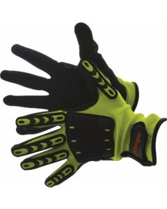 GLOVE HI-VIZ MINERS KNUCKLE SUPPORT LARGE FOAM