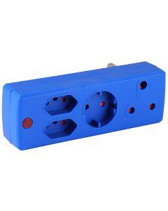ELECTRICMATE BLUE 1X16A + 2X5A + 1XSCHUKO ADAPTOR