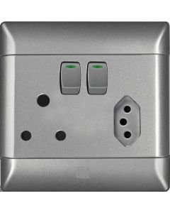 CBI CBIPS680C03-T SILVER SHIMMER SWITCH+SOCKET COMBINATION 4 X 4