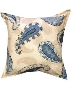 GREY GARDENS INDIGO PAISLEY SCATTER CUSHION