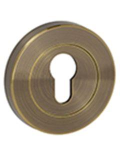YALE 35ZX-CE09-5001 ANTIQUE BRASS ESCUTCHEON PROFILE PAIR