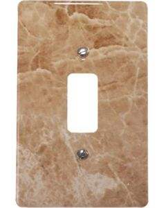 EUROLUX CT6541/220 COVER PLATE 1L 2X4 BROWN MARBLE