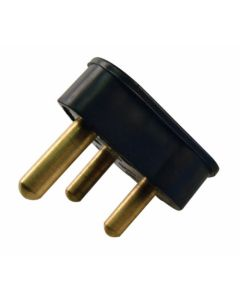 AC/DC LM1065 PLUGTOP 3PIN 15A BLACK RUBBER