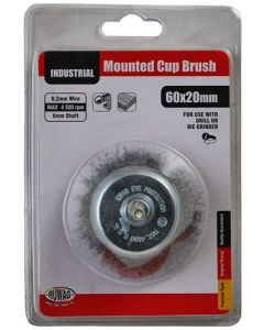 Ruwag RMCB6020 Mounted Wire Cup Brush - 60 x 6mm