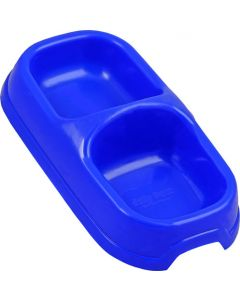 BIG JIM DP0008-PB ROYAL BLUE DOUBLE DINER DOG BOWL