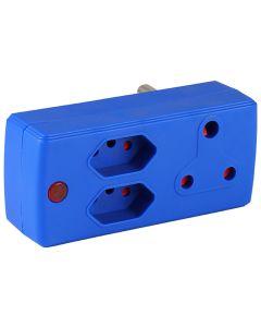 ELECTRICMATE BLUE 1X16A + 2X5A ADAPTOR