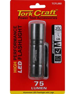 TORKCRAFT TCFL060 LED BLACK METAL TORCH