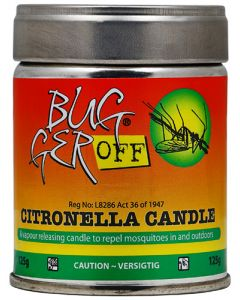 BUGGER OFF CITRONELLA CANDLE 125G