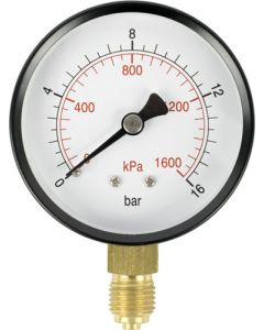 AIRCRAFT SD63B-1 STANDARD PRESSURE GAUGE 63MM - 1/4 IN