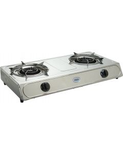 CADAC 193E 2 PLATE STAINLESS STEEL GAS STOVE