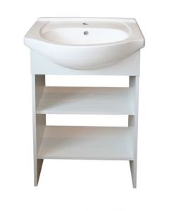 DENVER APERTO OPEN SHELF CABINET AND BASIN-WHITE 550MM