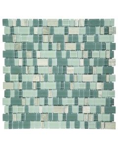 FALCON P3-FT1903 GLASS & STONE MOSAIC TILE 300MM