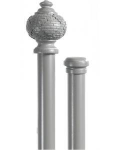 CURTAIN POLE SET 28MM GRECIAN DOUBLE 3.0M STONE