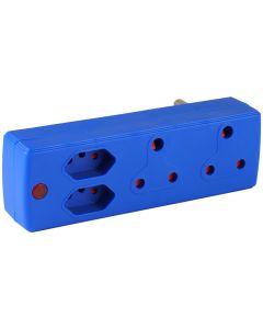 ELECTRICMATE BLUE 2X16A + 2X5A ADAPTOR