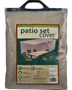 8 SEATER PATIO COVER POLYESTER BEIGE