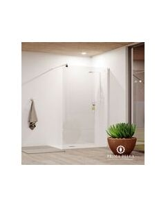 PRIMA BELLA LASCARI II SHOWER SCREEN WALL MOUNTED 1.2MX1.9M WITH SUPPORT ARM
