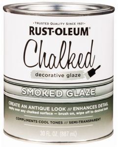 RUST-OLEUM 315883 DECORATIVE GLAZE SMOKED GLAZE CHALKED PAINT