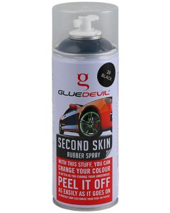 GLUEDEVIL BLACK SECOND SKIN RUBBER SPRAY 400ML