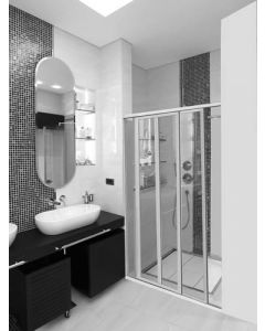 ORIGIN 2-PANEL SHOWER DOOR CLEAR/NAT