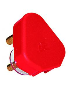 A303 Dedicated 16A Red 3 Pin Plug top