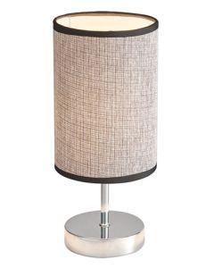 BRIGHT STAR TL631 CHROME DARK BROWN SHADE TABLE LAMP