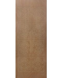 PATTERNED HOLLOW CORE RUBY ENTRANCE DOOR 813x2032