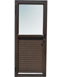 IBUILD KPSD921BLHOI HINGED SOLID/TOP GLASS ALUMINIUM DOOR