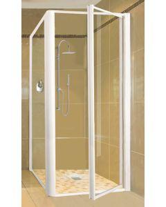 DOOR SHOWER PIVOT 900 CLEAR/WHITE