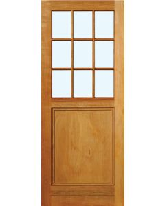 9 LIGHT ENGINEERED HARDWOOD GLASS 813 DOOR