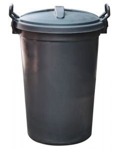 BIG-JIM DG0205-BL 80-0741 PLASTIC DUSTBIN 120L BLACK