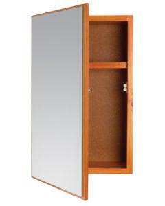 WILDBERRY ABS6019 OLP PINE SINGLE DOOR MIRROR CABINET