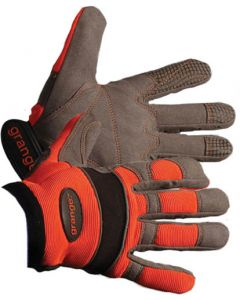 GLOVE HI-VIZ ORANGE REFLECTIVE CUFF9 VELCRO ADJ