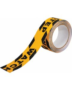 ANTI SLIP TAPE WATCH YOUR STEP BLACK/YELLOW COMMERCIAL HIGH GRIT