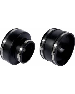 PVC ADAPTOR RUBBER BLACK 110MM TO 50MM FLEXSEAL WITH CLAMPS