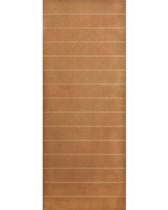 HORIZONTAL HARDBOARD INTERIOR DOOR EXPOSED EDGE 813X2032