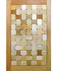 BASKET WEAVE FLAT BLOCKS PIVOT 1200 DOOR
