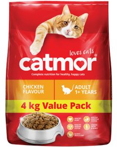 CATMOR ADULT 1+ YEARS CHICKEN FLAVOUR 4KG