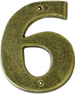 ALESSA ANTIQUE GOLD NUMERAL 6 ( 200MM)