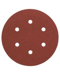 Bosch 40gr 6-Holes Wood/Paint Sanding Disc 150mm Pack of 5