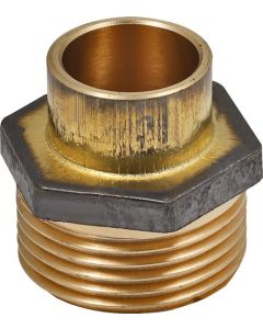 SPLASHWORKS BG4243G/R/1 COPPER STRAIGHT REDUCING COUPLER CXMI 15X20MM