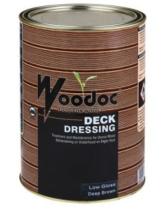 WOODOC DECK DRESSING DEEP BROWN 5L
