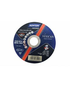 NORTON VULCAN STEEL CUTTING DISC 115X1.6X22.23MM