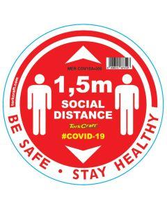 TORK CRAFT RED 1.5M SOCIAL DISTANCE ROUND GRAPHIC 300MM
