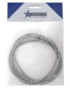 Brightstar 060-3M Grey 2 Core Twisted Cord Pendant Wire 3m