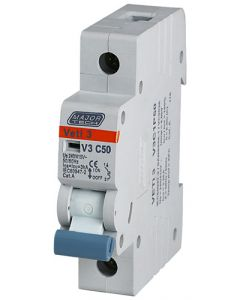 VETI V3C1P50 SINGLE POLE 50A CIRCUIT BREAKER 3KA MCB