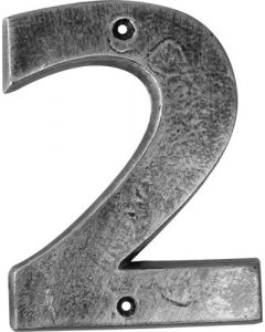 ALESSA ANTIQUE SILVER NUMERAL 2 (200MM)